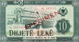 ALBANIA UNC 10 Leke1976 SPECIMEN - Albania