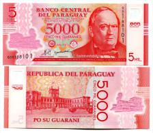 PARAGUAY 5000 GUARANIES 2011 (2013) P-NEW UNC POLYMER - Paraguay