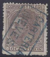 ESPAÑA 1879 - Edifil #205 Carteria - VFU - Usados