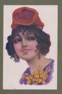 Cp Femme Art Déco, Signée Illustrateur, Type Catalan, Woman, Fraü - Années 30 - Ilustradores & Fotógrafos