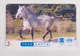 Telephon Card  Greece : Horse - Griekenland