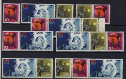 Lot DDR ZD Michel No. 1343 - 1345 /  W Zd 186 - 191 ** postfrisch