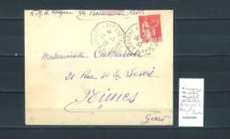 Lettre Cachet Convoyeur  Aubagne à Barque Fuveau - Indice 7 - Postmark Collection (Covers)