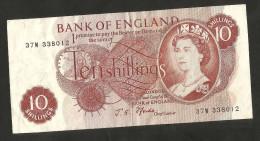 [NC] UNITED KINGDOM - BANK Of ENGLAND - 10 SHILLINGS  - ELIZABETH II - 1952-… : Elizabeth II