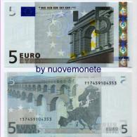NOTE BANCONOTA BILLET DA 5 EURO T IRLANDA K003 .. UNC RARA VALORE  25 EURO AFFARE ! - 5 Euro