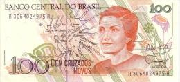 BRESIL    100 Cruzados Novos  Non Daté (1989)    Pick 220 A     ***** BILLET  NEUF ***** - Brésil