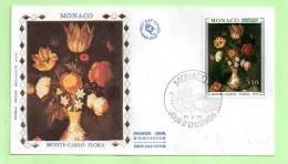 FDC - MONACO - - N° Yvert :  916 - FLEURS - AMBROSIUS BOSSCHAERT - FDC