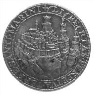 SAN MARINO MEDAGLIA ARGENTO 800 Johnson 1975 ANTICHI SIGILLI - Tokens & Medals