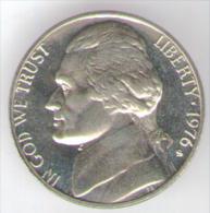 STATI UNITI 5 CENTS 1976 FONDO SPECCHIO - Emissioni Federali