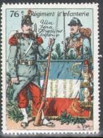 VIGNETTE MILITAIRE :76e REGIMENT D´INFANTERIE - Military Heritage