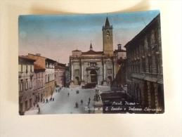 ASCOLI PICENO BASILICA DI S. EMIDIO E PALAZZO COMUNALE VIAGGIATA XX - Ascoli Piceno