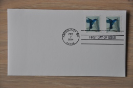 M2 01 ++ USA 2014 FDC BIRDS OISEAUX VOGELS HUMMINGBIRD POSTFRIS MNH NEUF ** - FDC