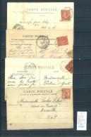 Lettre Cachet Convoyeur  Valdonne à Aubagne Et Retour- 4 Piéces - Postmark Collection (Covers)