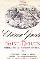 CHATEAU QUENTIN 1986 / SAINT EMILION - Bordeaux
