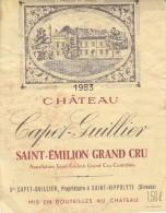 MAGNUM DE CHATEAU CAPET GUILLIER 1983 / SAINT EMILION GC - Bordeaux