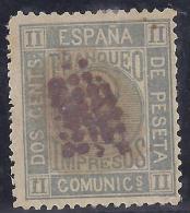 ESPAÑA 1872 - Edifil #116 - VFU - 1872-73 Reino: Amadeo I