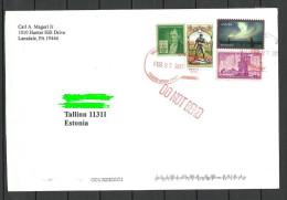 USA Cover With Several Stamps  To ESTONIA Estland Estonie 2014 - Entiers Postaux