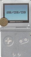 Game Boy Advance SP Nintendo (Klik & Win) 28/03/2003, Carton - Advertising