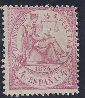 ESPAÑA 1874 - Edifil #151 - MLH * - 1873-74 Regentschaft