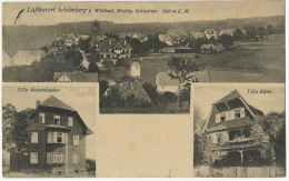 Luftkurort Schomberg B. Wildbad  Villa Maisenbacher , Villa Kaser  P. Used 1927 To Portugal - Schömberg