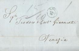 DC69 RAPPORTI ASI ESTERO 1860 Lettera ISOLE IONIE X LOMBARDO VENETO In Porto Assegnato Con Doppia Tassazione - Lombardo-Veneto