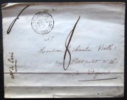 CACHET Type 14  --  VILLENEUVE LA GUYARD  --  YONNE  --  LSC  --  1841  --  INDICE 5 - 1801-1848: Précurseurs XIX