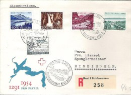 Schweiz  Stempel  RHEINSCHIFFAHRT 2.Juni 1954 Mit Pro Patra-Satz (Zu CHF 55.00) - Maritime