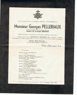 MONSIEUR GEORGES PELLERIAUX  à SOUS LE BOIS  MAUBEUGE 59 (NORD)  1961 - Obituary Notices