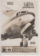 SABENA     1923 -  1948   25 Jaar Ervaring      Scan 7053 - 1939-1945: 2ème Guerre