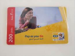 Prepaid Phonecard,lady On Grassland,used - Syria