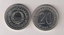 Yugoslavia 20 Dinara 1985. UNC KM#112 - Yugoslavia