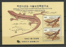 Lézard Scincella Lateralis.  Un BF Neuf ** En Bande. Corée Du Sud. - Reptiles & Batraciens