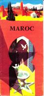 CARTE TOURISTIQUE AVEC CIRCUIT ET PHOTOS DESSINS MANTEL ? MAROC - Cartes Géographiques