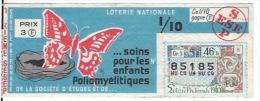 Soins Pour Les Enfants Poliomyélitiques 1963 - Billets De Loterie