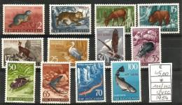1954 ANIMALI  Animals  TRIESTE B Serie Cpl  NUOVA * MLH - Non Classés