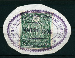 A2635) Japan Fiscal Stamp Yokohama 03/26/1904 - Japan