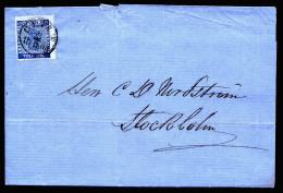 A2638) Schweden Sweden Sverige Brief 8.5.1865 Nach Stockholm - Schweden