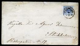 A2639) Schweden Sweden Sverige Brief 9.11.1874 Nach Stockholm