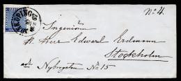 A2640) Schweden Sweden Sverige Brief 10.2.1867 Nach Stockholm