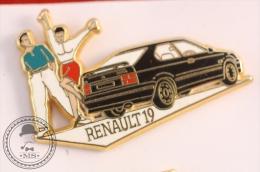 Arthus Bertrand Renault 19 Black Colour - Pin Badge  - #PLS - Arthus Bertrand