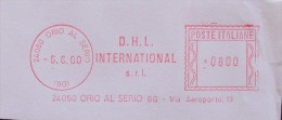 DHL D.H.L.INTERNATIONAL Transport Affrancatura Meccanica Italia Am Rossa Meter Ema - Affrancature Meccaniche Rosse (EMA)