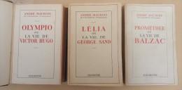 Lot 3 Vol. - Littérature/Biographie - André Maurois - Balzac - George Sand - Victor Hugo - - Loten Van Boeken