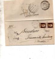 1945  LETTERA CON ANNULLO MANDURIA TARANTO - 5. 1944-46 Luogotenenza & Umberto II