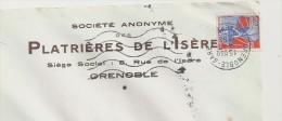 """Gypse, Plâtre, Isère, Grenoble, Classe Ouverte  - EMA Satas """"W"""" De Remplacement - Enveloppe  Complète   (N166) - Minerals"""
