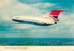 British Airways Trident 3 Jetliner Postcard - 1946-....: Moderne