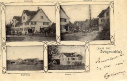 CPA - GRUSS  AUS  ZWINGENSTEINHUB  (Suisse)    Cachets Et Timbre 1902 - Suisse