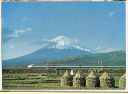 CP The Super Express Of The New Tokaido Train  Japon Volcanisme Volcan - Treinen