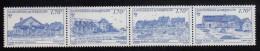 St Pierre Et Miquelon MNH Scott #564a Strip Of 4 Different 1.70fr Scenic Views, Blue - Neufs