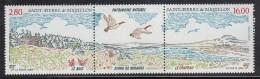 St Pierre Et Miquelon MNH Scott #606a Pair With Label 2.80fr Le Bois, 16fr Le Chapeau - Neufs