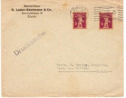 Svizzera, Suisse, Helvetia - Lettera  1928 Zurich - Walter Tell -Druckesache - Brieven En Documenten